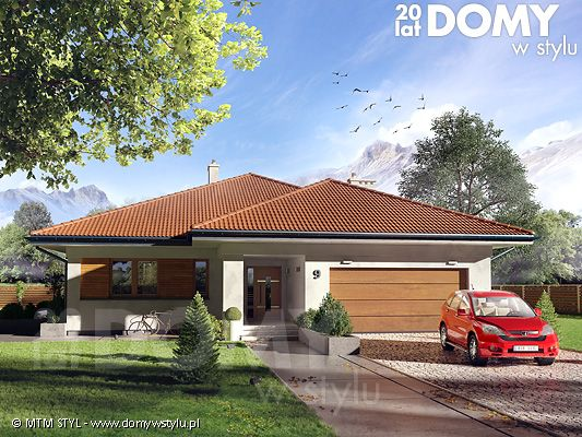 Decyma 6 to projekt domu parterowego energooszczędnego, zaprojektowanego z myślą o 4-5 osobowej rodzinie. Wnętrze domu jest niezwykle funkcjonalne i podzielone na strefę dzienną oraz nocną. W strefie dziennej znajduje się przestrojony salon z jadalnią i dużą ilością przeszkleń, kuchnia ze spiżarnią oraz reprezentacyjny hol. W części nocnej znajdują się cztery sypialnie, łazienka oraz pralnia. Dodatkowym atutem projektu jest garaż na dwa stanowiska oraz zadaszony taras w części ogrodowej.