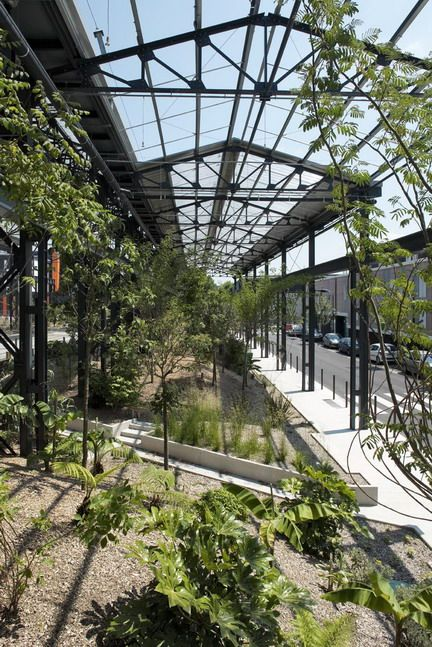 nantes architecture contemporaine Jardin des Fonderies | Nantes beautifull postindustrial design