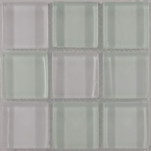 Product ID:OPUS25 Miki 1X1 Glass Blend White Mosaic #Profiletile