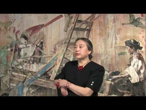 Hung Liu: There's dignity in a woman handling a machine