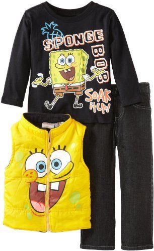 Nickelodeon Boys 2-7 SpongeBob 3 Piece Vest Pullover And Pant, Yellow, 3T Nickelodeon http://www.amazon.com/dp/B00CIQUHW0/ref=cm_sw_r_pi_dp_5RQ1tb08P54ANMV6