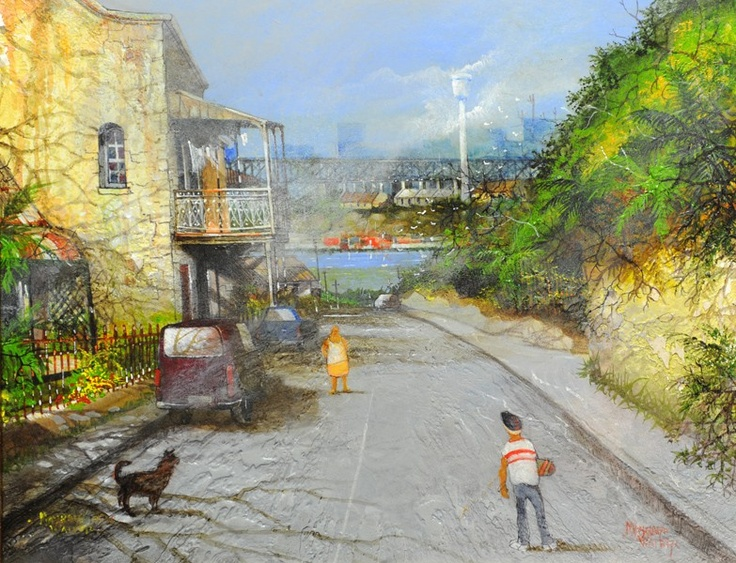 Balmain Facing City, oil on canvas, 37x49cm. Maynard Waters, Bungendore Wood Works Gallery. August 11 – September 30, 2012