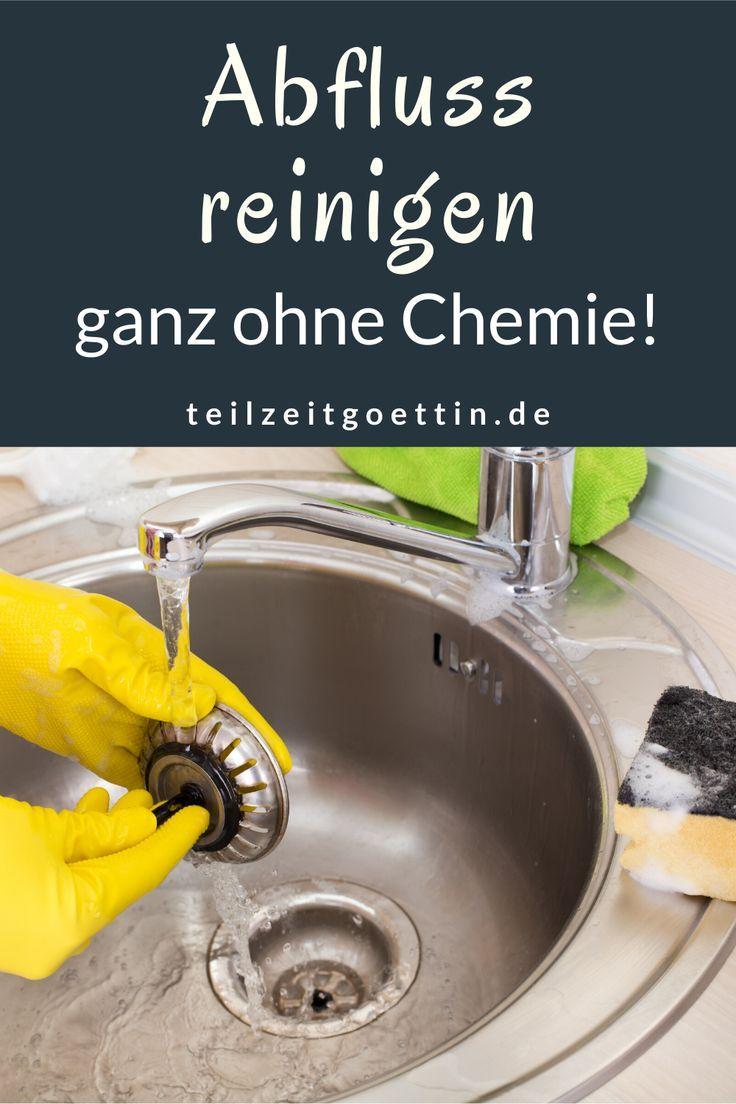 Abfluss Reinigen Ganz Ohne Chemie In 2020 Reinigen Abfluss Hausputz