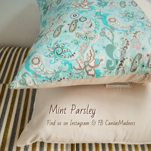 Mint Parsley  Size 40x40. Price 90,000 (insert included)
