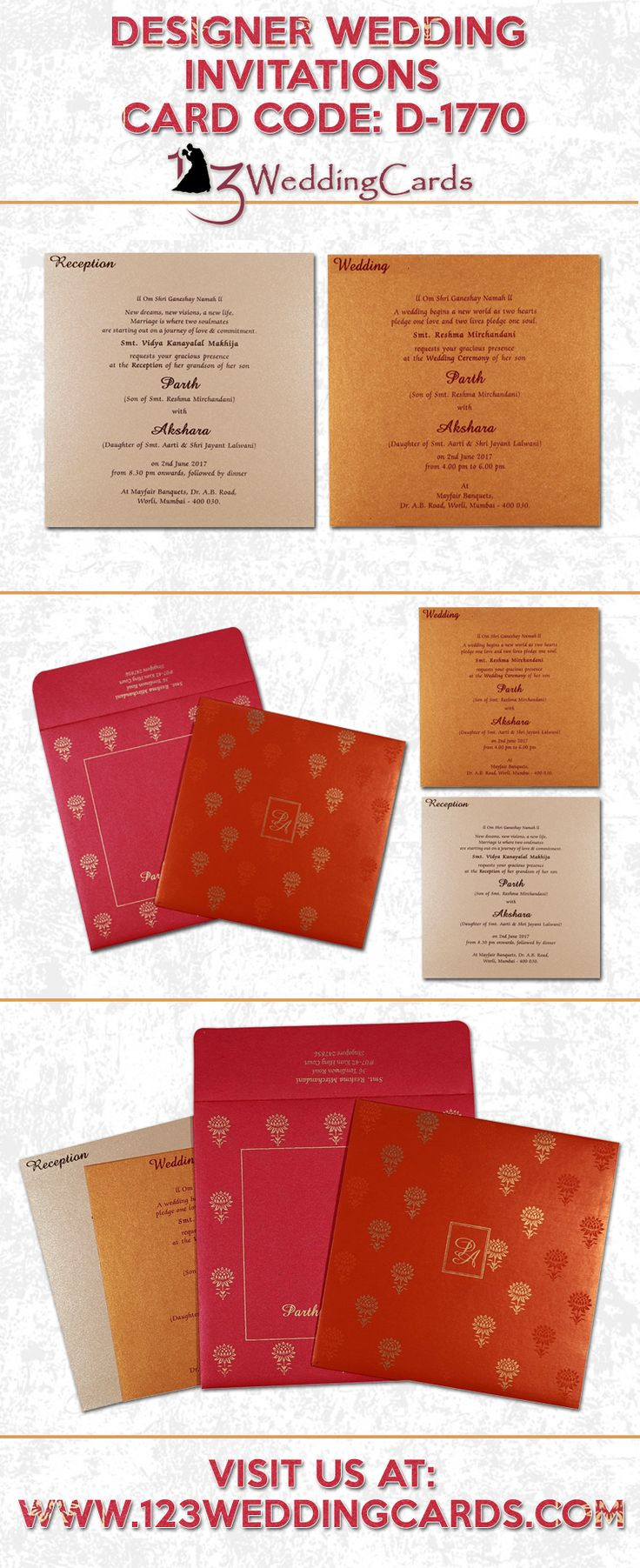 15 best Indian Wedding Cards images on Pinterest | Indian bridal ...