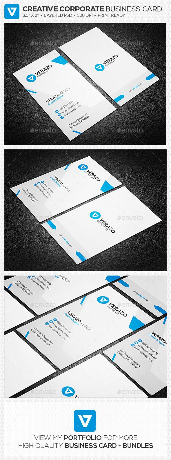 87 best images on pinterest brand design brand identity blue vertical corporate business card reheart Images