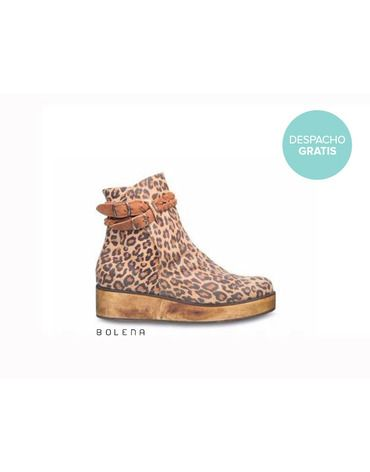 Botín Alexa Leopardo | Chilean handmade shoes