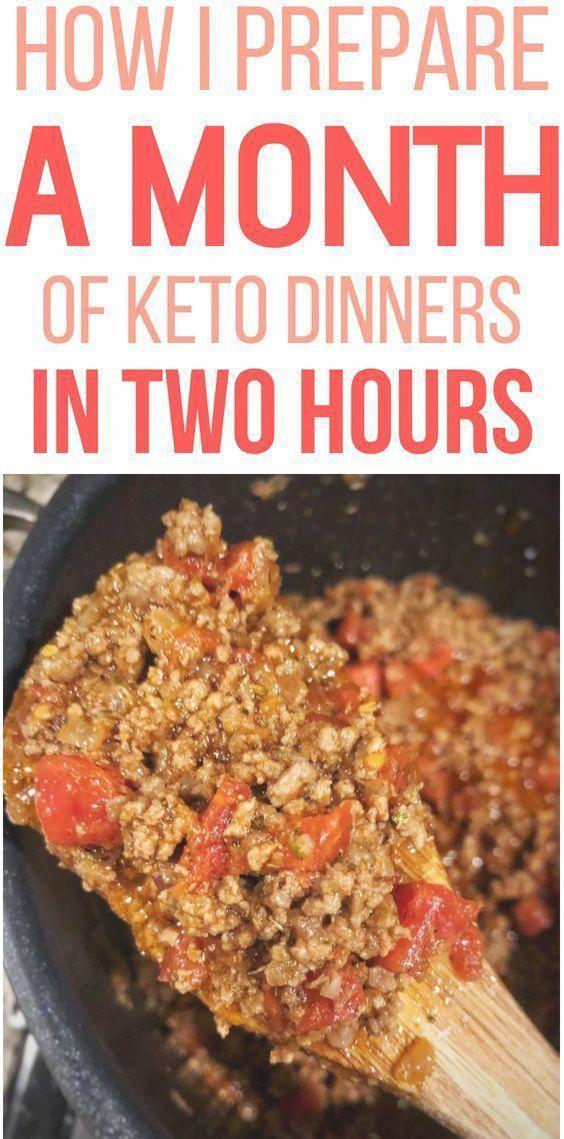 Como fazer a refeição Prepare um mês de jantares Keto em apenas 2 horas