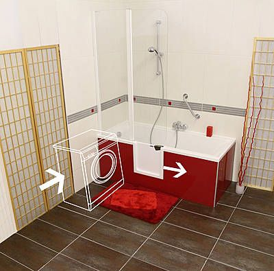 Badewanne mit Einstieg - eingebaute Tür http://magicbad.com/en/the-door-in-your-tub.html http://magicbad.com/