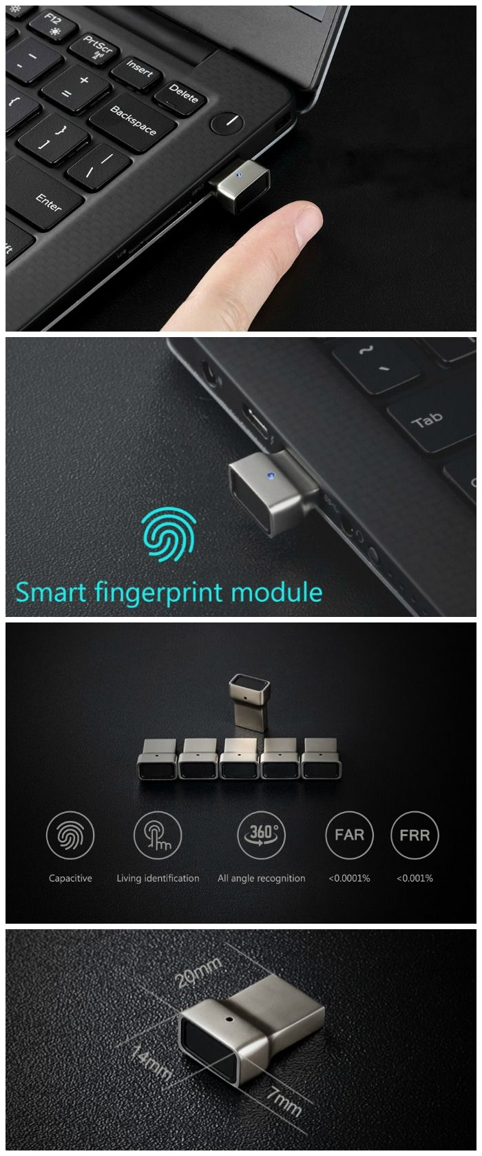 Add the simplicity and the speed of capacitive fingerprint login to just about any Windows laptop with the USB Fingerprint Module.