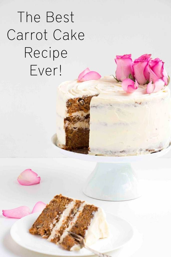 The Best Carrot Cake Recipe Ever – A delicious, easy to make moist, spicy and creamy recipe. The perfect recipe for Easter.  - Baking-Ginger