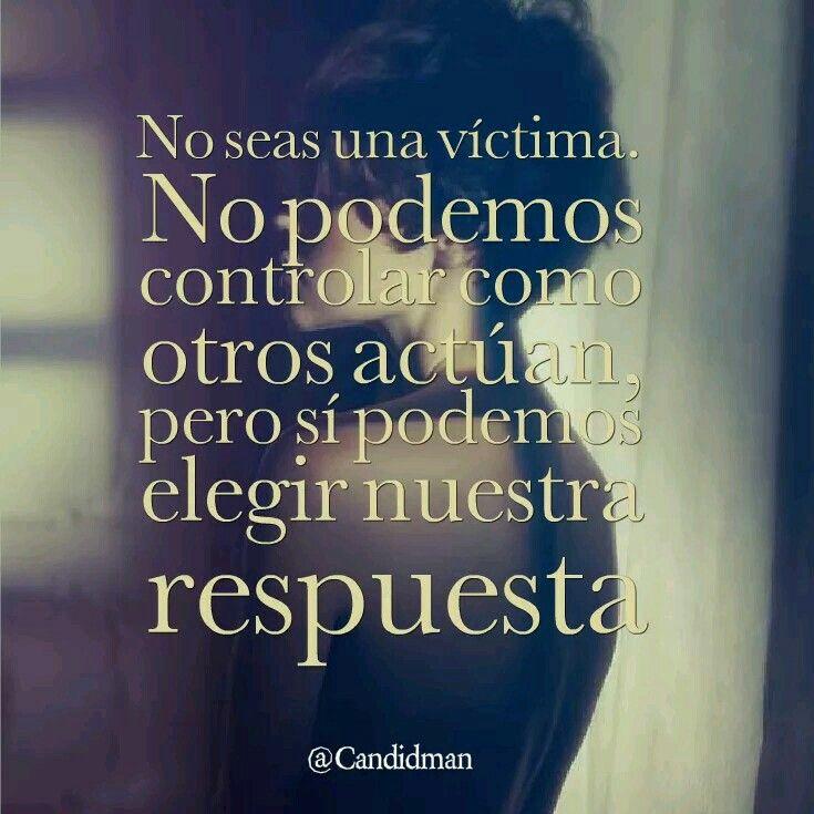 No seas victima