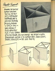 cardboard furniture- use this idea to reinforce a small covered ikea lack table to turn it into a stool, ottoman