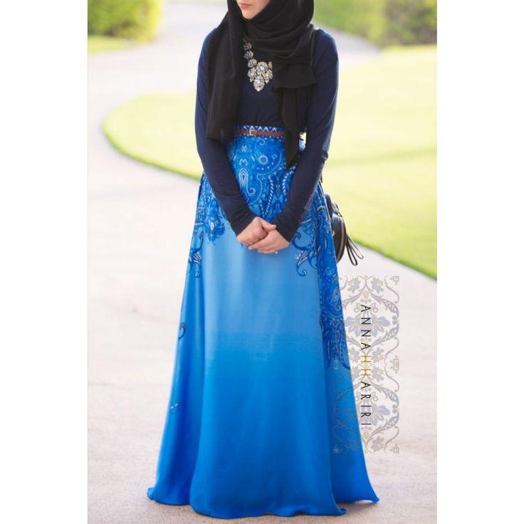 Gzhel Print skirt