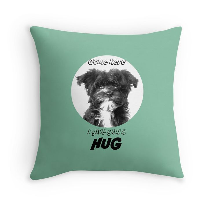 Bolonka Zwetna love pad. This little dog on the cushion can be ordered at: https://www.redbubble.com/people/bbrigitte/works/23492440-come-here-i-give-you-a?p=throw-pillow&rel=carousel