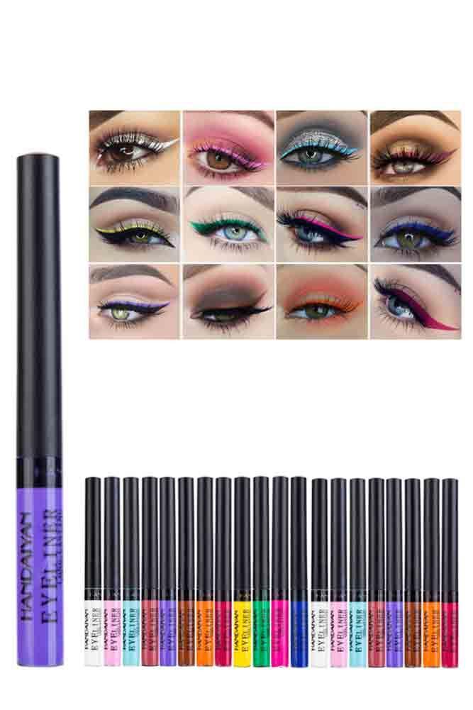 Handaiyan 12 Colors Waterproof Liquid Eyeliner Donnard S Liquid Eyeliner Eyeliner Brands Waterproof Liquid Eyeliner
