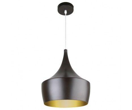 Espresso 1 Light Pendant in Dark Coffee/Gold | Modern Pendants | Pendant Lights | Lighting
