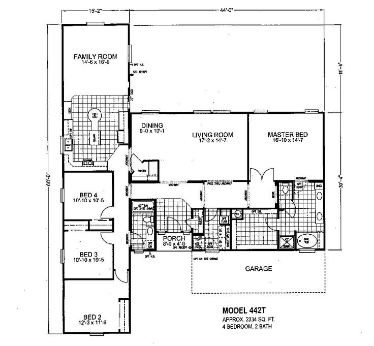 Triple Wide Mobile Home Floor Plans | Modular Home Floor Plans | Modular  Home Plans