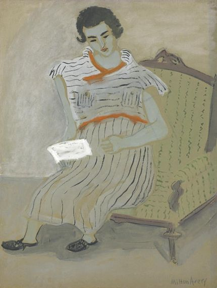 Milton Avery, Girl Writing