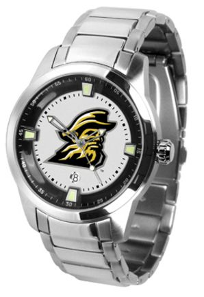 Appalachian State Mountaineers Titan Steel Watch: This superb quality timepiece features a quartz… #Sport #Football #Rugby #IceHockey