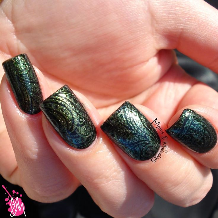 "Manis & Makeovers: Ms. Sparkle ""Tassels"" and BP-10 stamping"