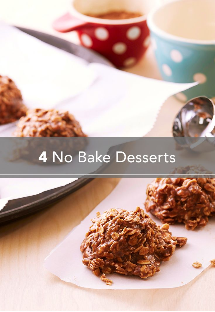 Looking for a cold dessert for your summer party? Skip the oven and use these no-bake recipes to make sweet treats – including these oatmeal chocolate cookies, pies, ice cream sandwiches and more, no sweat.