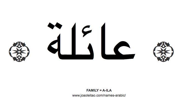 Word Family in Arabic = A-ILA