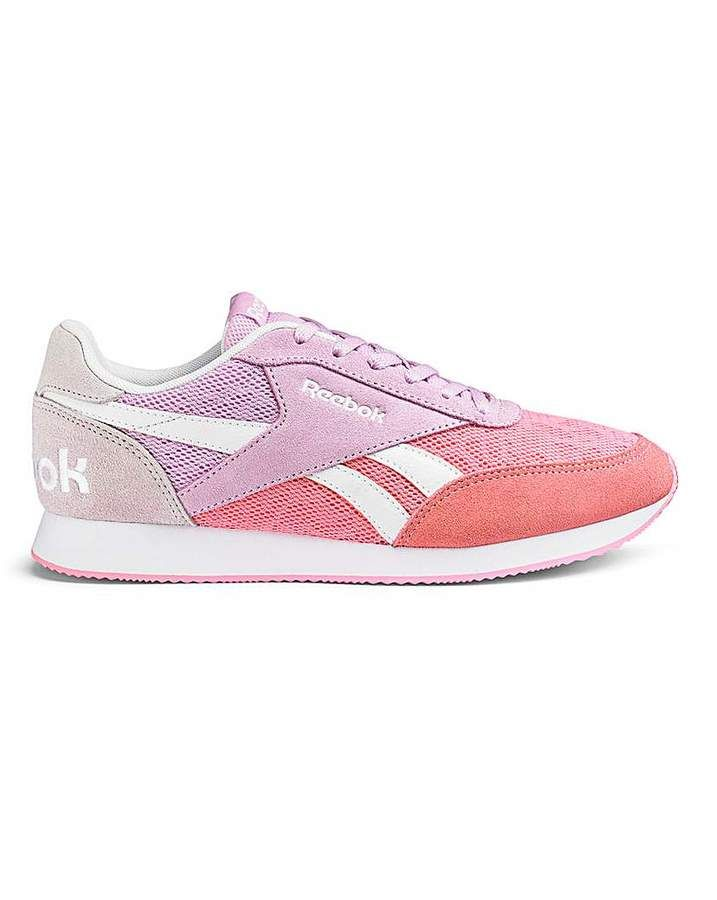 ffce2d8bcb9a0 Reebok Royal Cl Jog.Womans Comfortible Joggers Trainers in Pink Coral