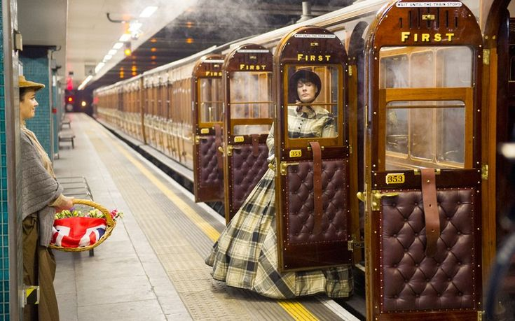 "London, 2013 : a typical day in the London underground ...    As part of the ongoing celebrations for the 150 Anniversary of the ""Tube"", the London Transport has organised a ""revival"" journey of the oldest surviving underground carriage, the number ""353"". The short run had a stop at Moorgate tube station, with women in period costumes boarding the train, just like back in 1899 ... (photo : Paul Grover)    Anyone for a ride?"