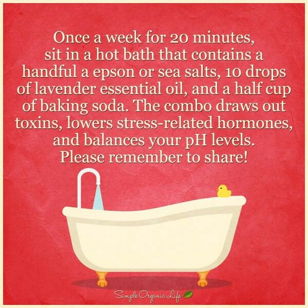 Detox soak, lower stress hormones