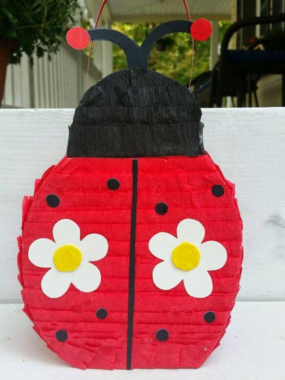 Ladybug Pinata.Ladybug Party. by LaAranita on Etsy