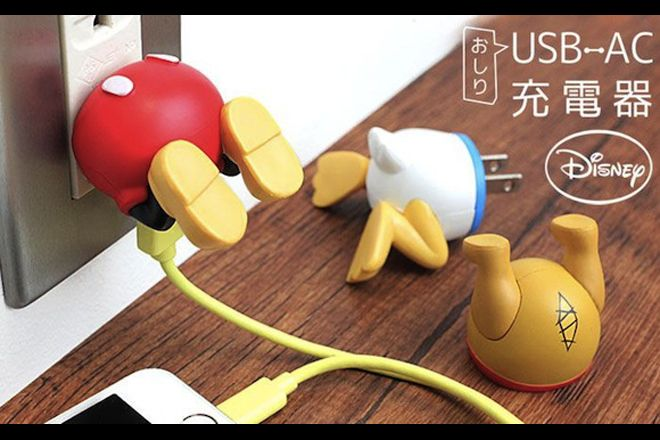 Adaptadores USB da Disney tornam as tomadas divertidas – Mickey, Donald e Pooh
