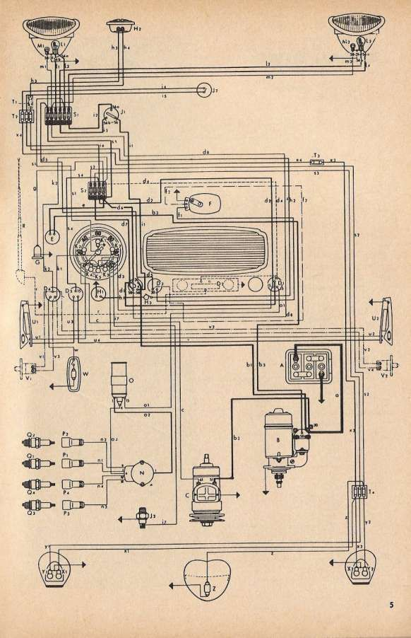 10 1974 Corvette Engine Wiring Diagram Engine Diagram Wiringg Net Volkswagen Escarabajo Vw Vintage Volkswagen