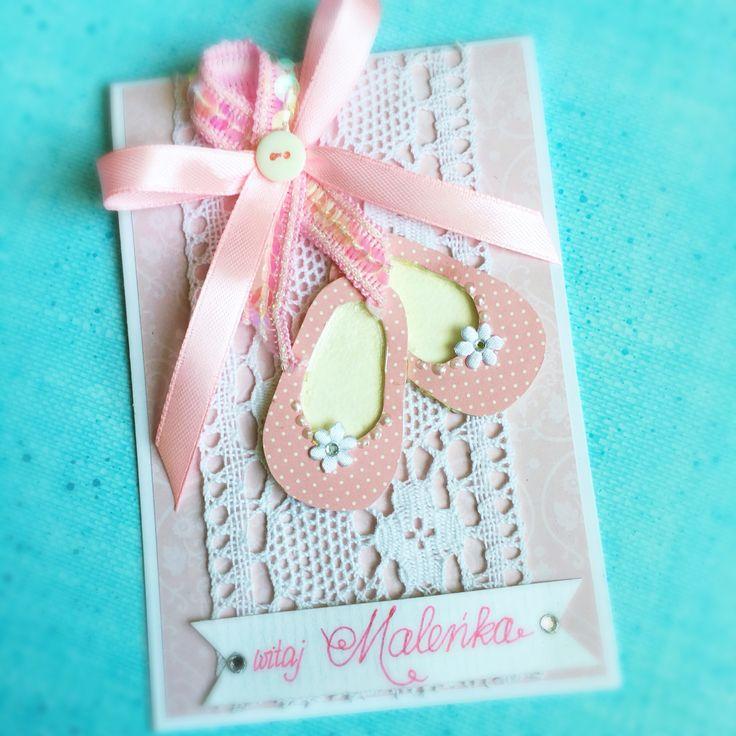 Kartka dla dziewczynki card for baby babygirl card