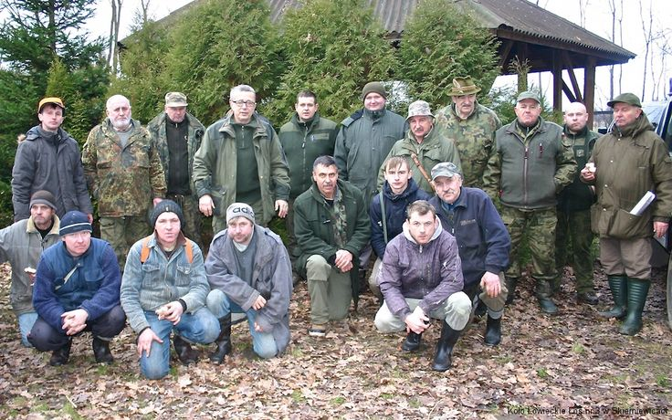 Uczestnicy polowania wigilijnego w 2014 roku