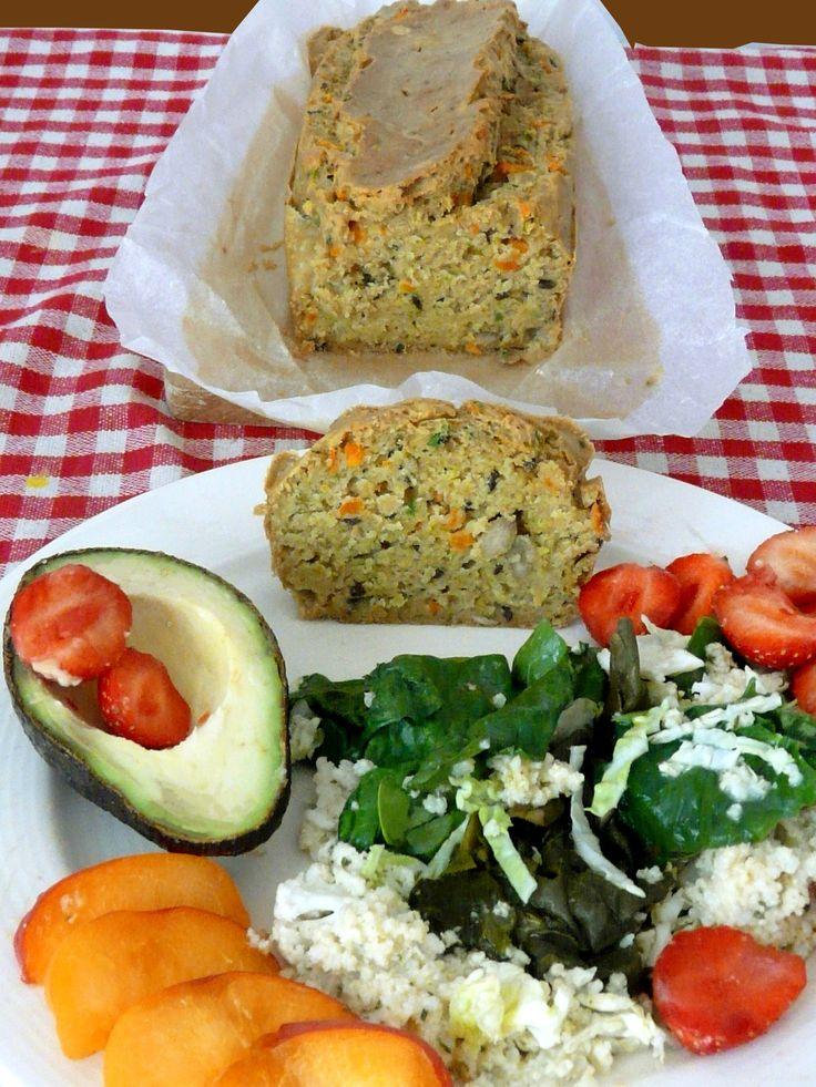 Cake à la farine de riz aux légumes sans gluten et sans lactose