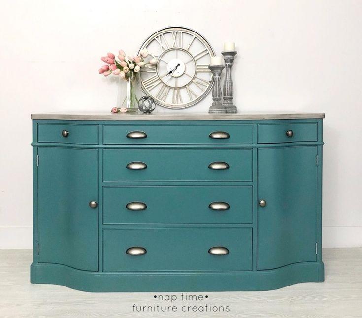 Gulf Stream Blue Media Cabinet | Painted furniture for sale, Staining furniture, Media cabinet