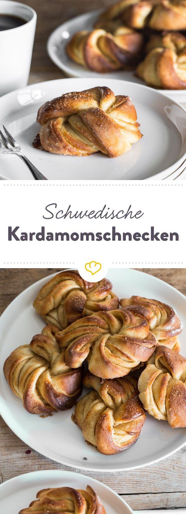 Aus der Küche duftet es bereits nach frisch Gebackenem. Wie gut, dass sich die leckeren Kardamomschnecken aus Schweden so einfach vorbereiten lassen.