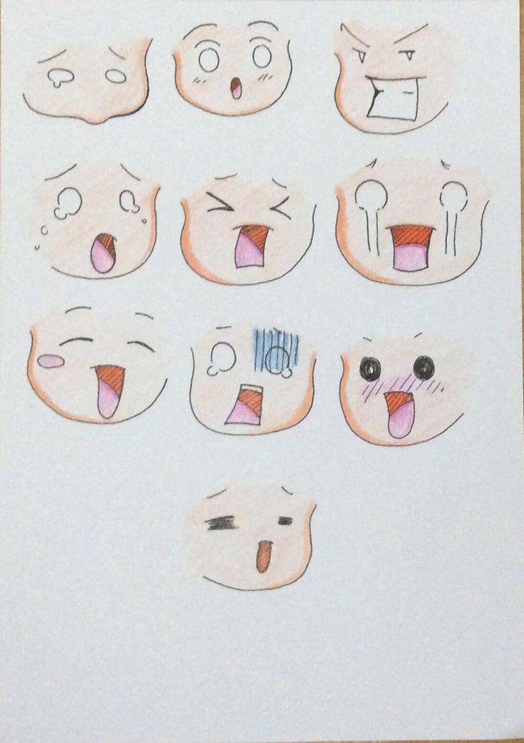 Faces 02 by MinakoMina on @DeviantArt