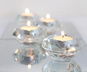 Diamond tealight votives