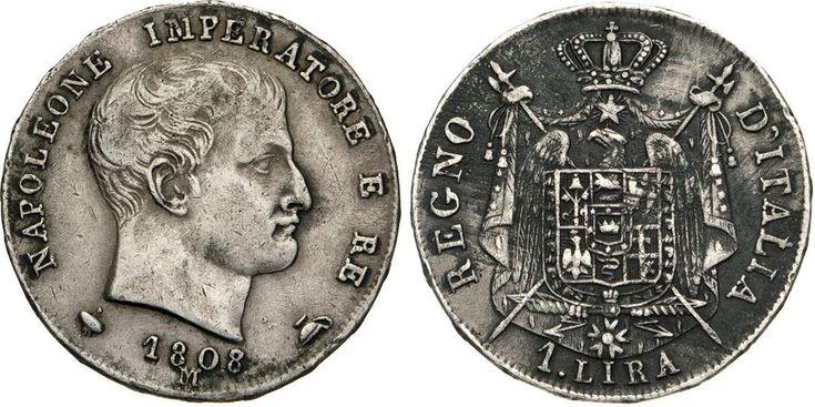 "NumisBids: Numismatica Varesi s.a.s. Auction 65, Lot 734 : NAPOLEONE I, Imperatore (1804-1814) Lira 1808 Milano ""I° tipo"". ..."