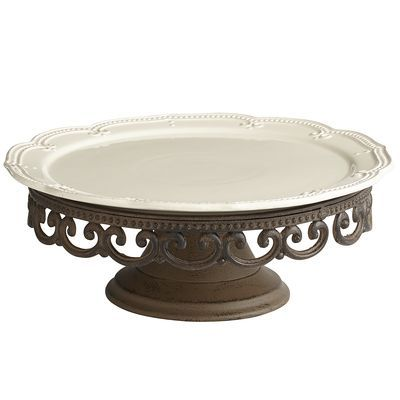 Abigail Cake Stand, this is my absolute favorite dish set. It is so gorgeous.