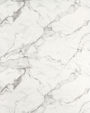 Calacatta Marble (Formica countertops that look like marble but you can actually use them).