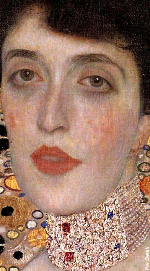 Gustav Klimt - Portrait of Adele Bloch-Bauer - 1907 - Detail