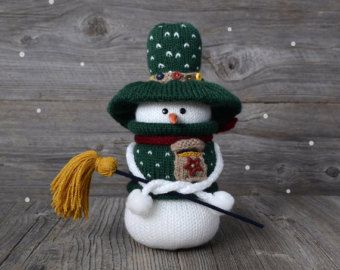 Knitted snowmen Snow man MADE TO ORDER Christmas от NeighborKitty