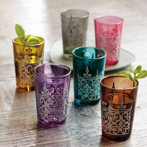 Colorful Moroccan Tea Glasses - Set of Six | VivaTerra