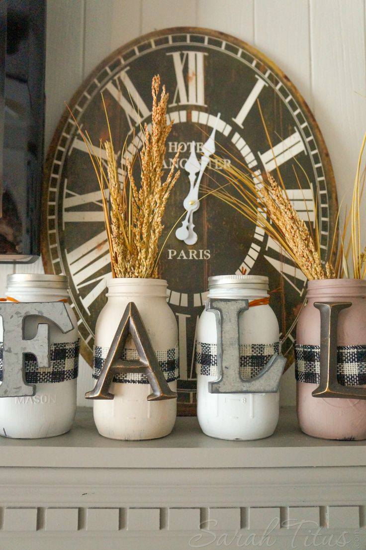 Gather your family to make this super cute fall mason jar family craft. Perfect for your mantel or entryway table and loads of fun for the kids!