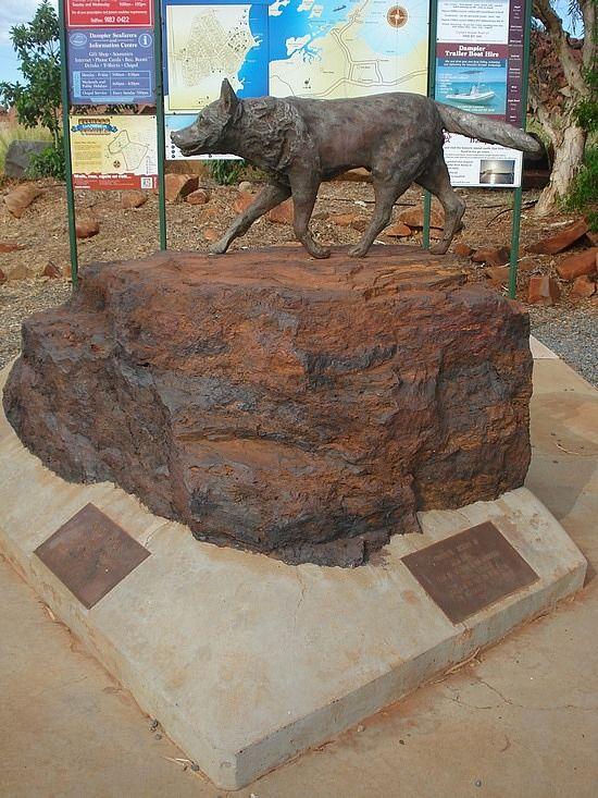 'Red Dog' statue in Dampier, WA. Dog Sculptures