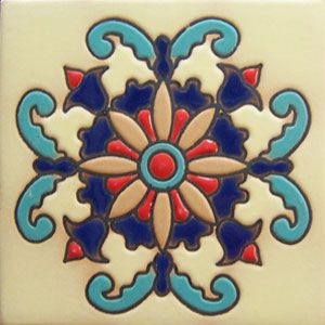 High relief Mexican tiles