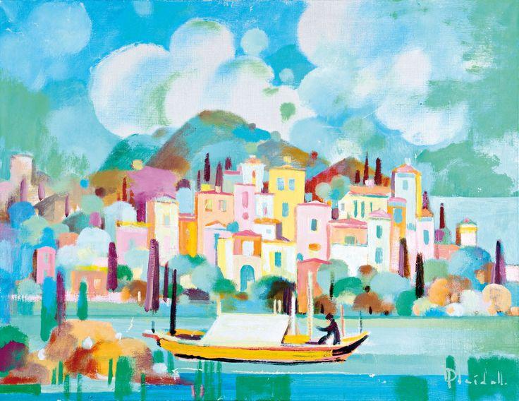 """Aukció: 2017. március 7.: Pleidell János; """"Hajnalban zöld a tenger, Szicília""""; olaj, vászon"""
